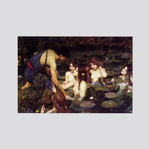 Hylas and the Nymphs Rectangle Magnet