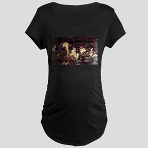 Hylas and the Nymphs Maternity Dark T-Shirt