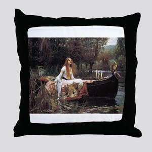 Lady of Shalott Throw Pillow