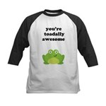 You're toadally awesome Kids Baseball Jersey