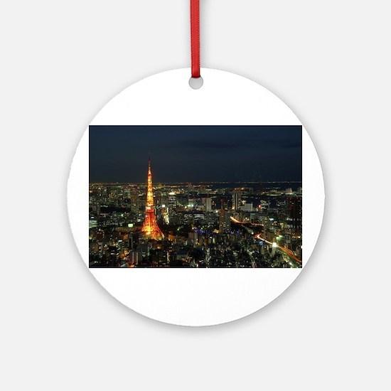 Tokyo tower Ornament (Round)