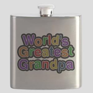 Worlds Greatest Grandpa Flask