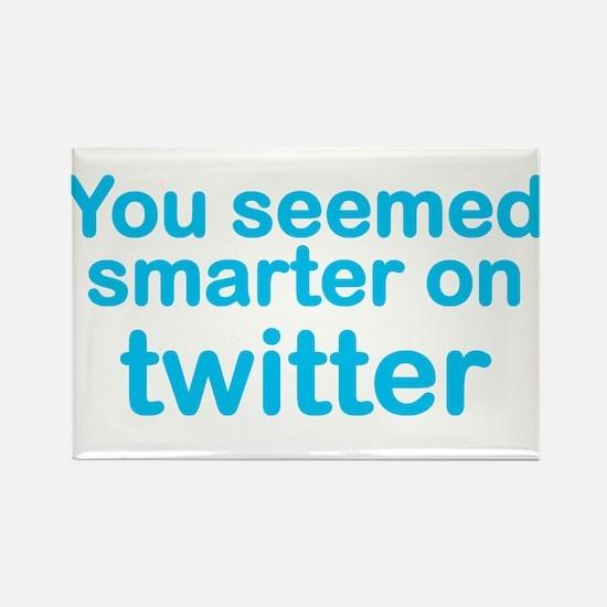 Smarter on Twitter Rectangle Magnet