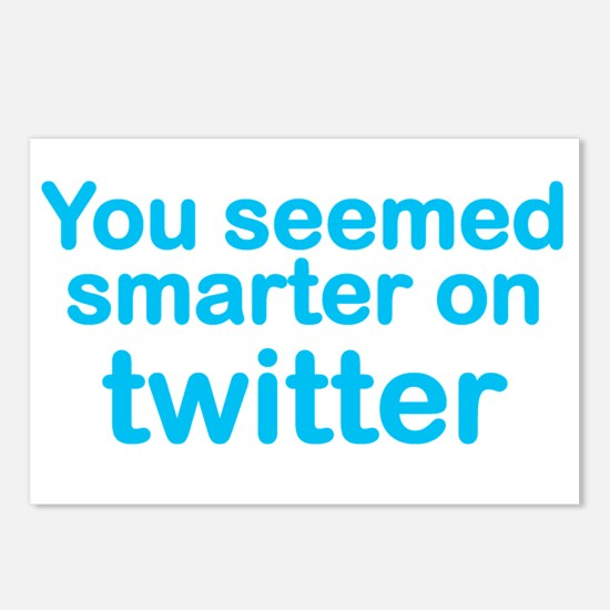 Smarter on Twitter Postcards (Package of 8)