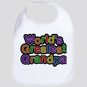 Worlds Greatest Grandpa Baby Bib