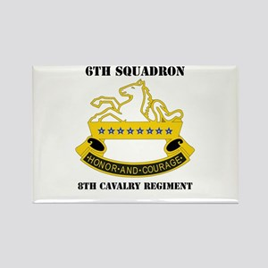 DUI - 6th Sqdrn - 8th Cavalry Regt with Text Recta
