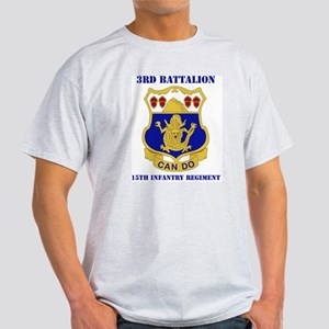 DUI - 3rd Bn - 15th Infantry Regt with Text Light