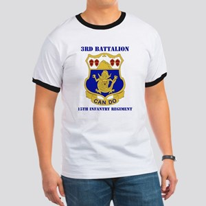 DUI - 3rd Bn - 15th Infantry Regt with Text Ringer