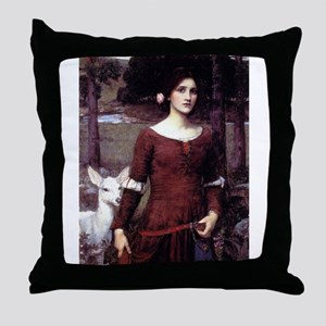 The Lady Claire Throw Pillow