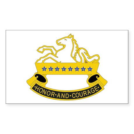 DUI - 6th Sqdrn - 8th Cavalry Regt Sticker (Rectan