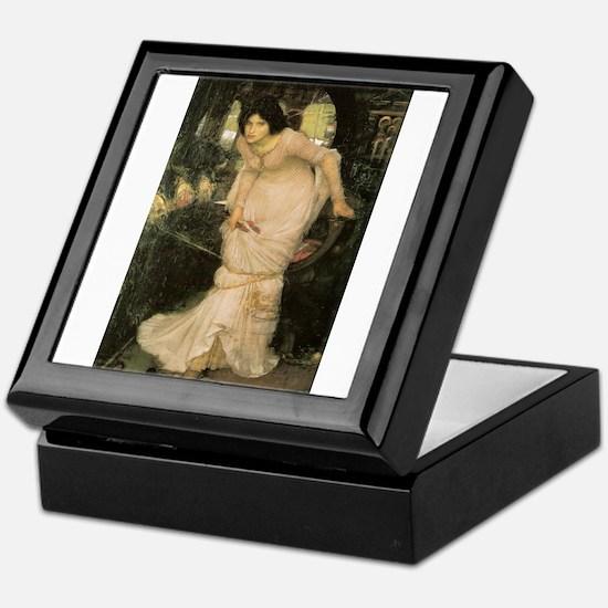 The Lady of Shalott Looking a Keepsake Box