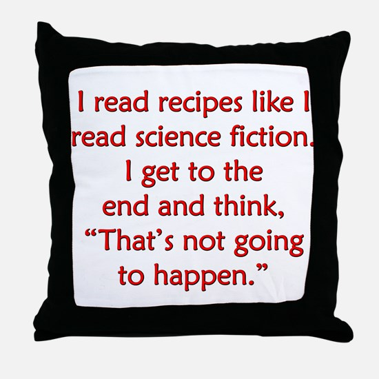 Science Fiction Recipes Throw Pillow