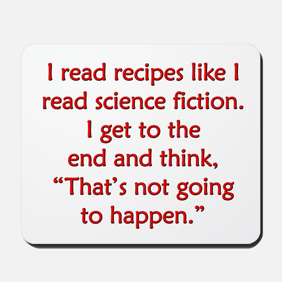 Science Fiction Recipes Mousepad