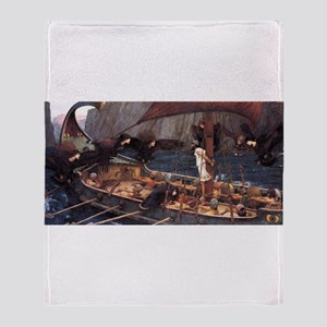 Ulysses and the Sirens Throw Blanket