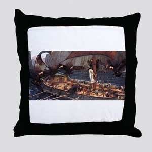 Ulysses and the Sirens Throw Pillow