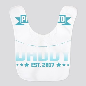 Promoted To Daddy Est. 2017 Polyester Baby Bib