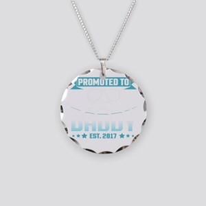 Promoted To Daddy Est. 2017 Necklace Circle Charm