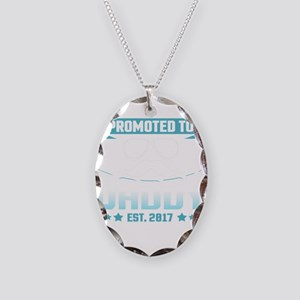 Promoted To Daddy Est. 2017 Necklace Oval Charm