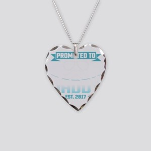 Promoted To Daddy Est. 2017 Necklace Heart Charm
