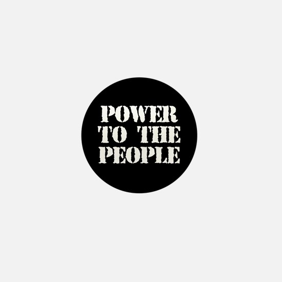 Power to the People Mini Button