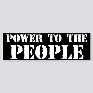 Power to the People Sticker (Bumper)