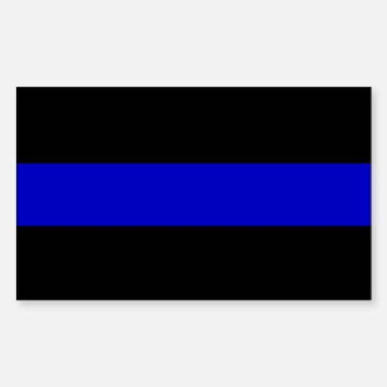 Thin Blue Line Sticker (Rectangle)