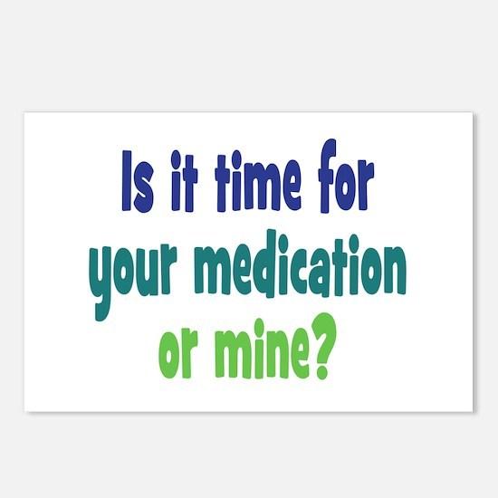 Your Meds or Mine? Postcards (Package of 8)