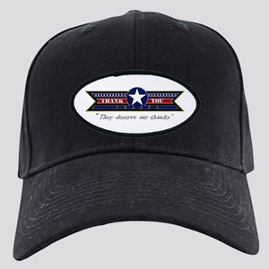 Thank You Troops Black Cap