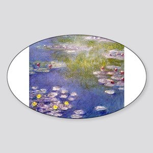 Nympheas at Giverny Sticker (Oval)