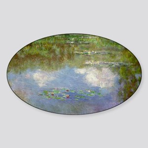 Water Lillies (The Clouds) Sticker (Oval)