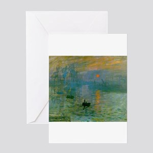 Impression, Sunrise Greeting Card
