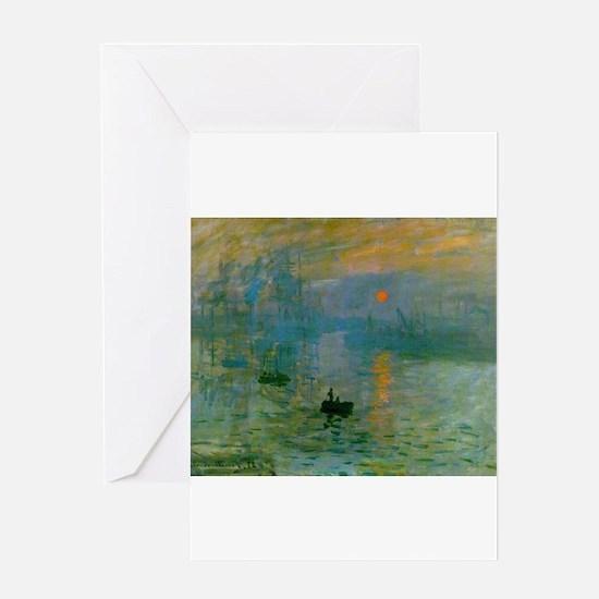 Impression, Sunrise Greeting Card