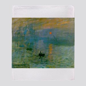 Impression, Sunrise Throw Blanket