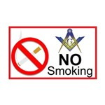 No Smoking Masonic 35x21 Wall Peel