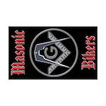 Masonic Bikers 35x21 Wall Peel