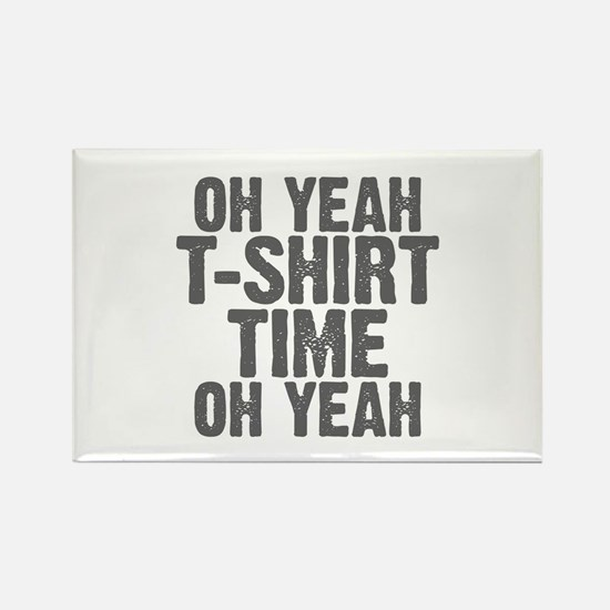T-Shirt Time Rectangle Magnet