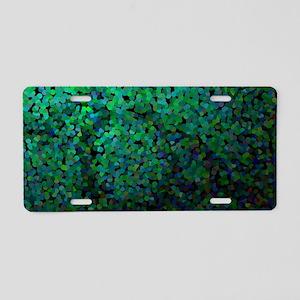 Pixel Glitch Green Aluminum License Plate