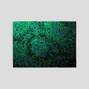 Pixel Glitch Green 5'x7'Area Rug
