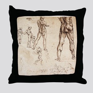 Anatomical Studies Throw Pillow