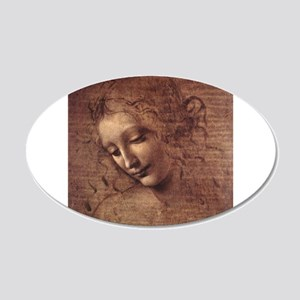 Female Head 22x14 Oval Wall Peel