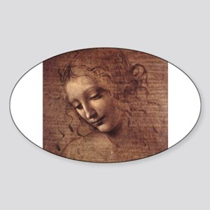 Female Head Sticker (Oval)