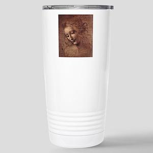 Female Head Stainless Steel Travel Mug