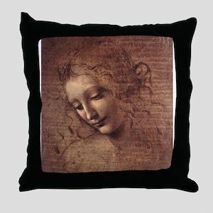 Female Head Throw Pillow
