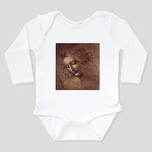 Female Head Long Sleeve Infant Bodysuit