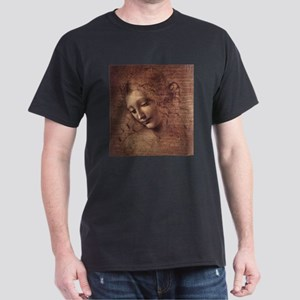 Female Head Dark T-Shirt