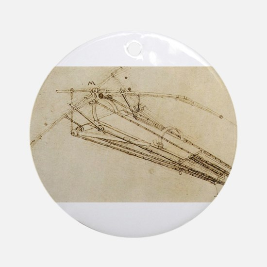 Flying Machine Ornament (Round)