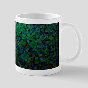 Pixel Glitch Green Mugs