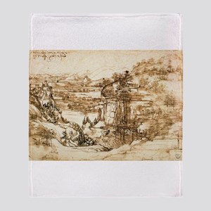 Landscape Drawing Throw Blanket