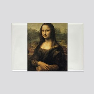 Mona Lisa Rectangle Magnet