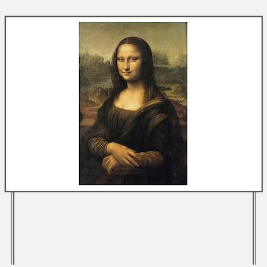 Mona Lisa Yard Sign